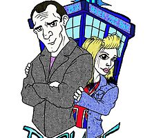 Ninth Doctor & Rose by Skree