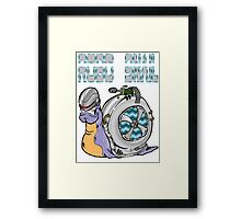 Robo Snail Framed Print