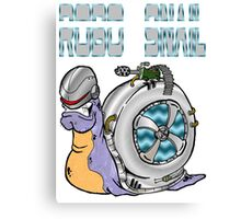 Robo Snail Canvas Print