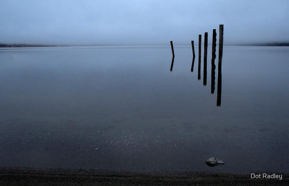 Lake Te Anau Misty Sunrise by Dot Radley