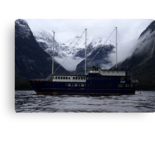 "Milford Sound New Zealand 5 - ""Milford Mariner"" Canvas Print"