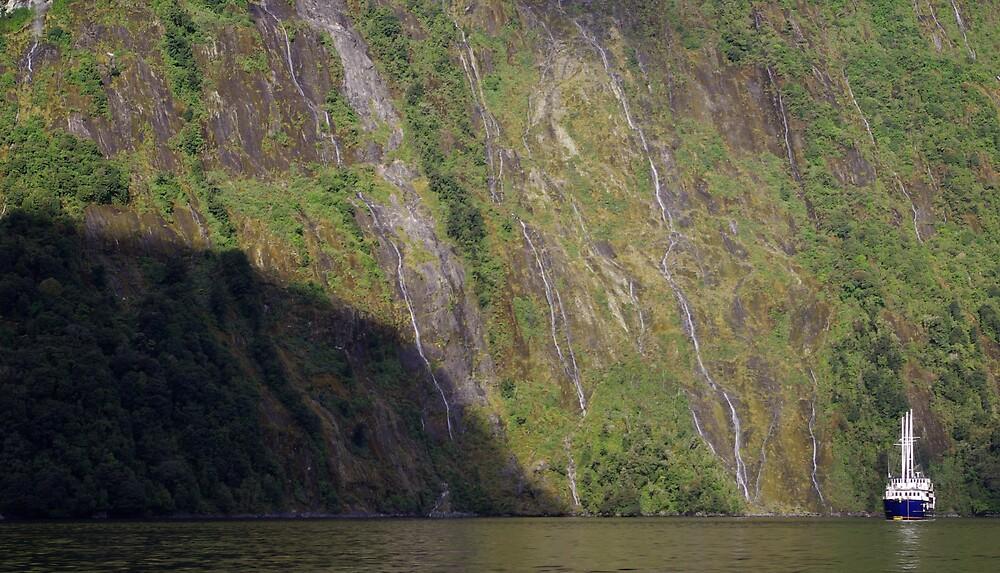 """Milford Mariner"" cruising on Milford Sound by Geoff46"