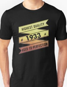 Highest Quality 1933 Aged To Perfection T-Shirt