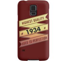 Highest Quality 1934 Aged To Perfection Samsung Galaxy Case/Skin