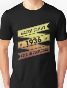 Highest Quality 1936 Aged To Perfection T-Shirt