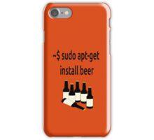 Linux sudo apt-get install beer iPhone Case/Skin