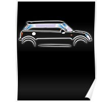 The Mini Car, Black, BMW, BRITISH ICON, MOTORCAR Poster