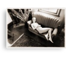 reclining nude Canvas Print
