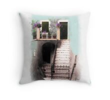 Villa in blue Throw Pillow