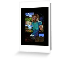 Minecraft Steve Typograpghy Greeting Card