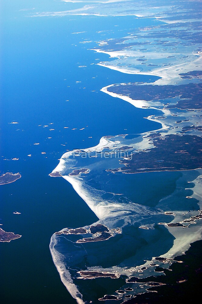 Finland Seashore from the air by Pat Herlihy