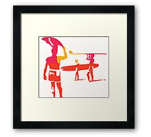 Surfing boys looking for The Endless Summer. Framed Print