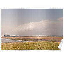 Low tide at Wellington point Poster