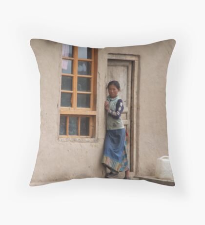Young Chinese Girl Throw Pillow