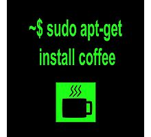 Linux sudo apt-get install coffee Photographic Print