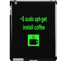 Linux sudo apt-get install coffee iPad Case/Skin