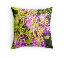Wild Flowers of the Coast Throw Pillow