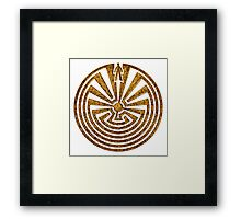 Man in the Maze, Journey through life, I'itoi, Papago Framed Print