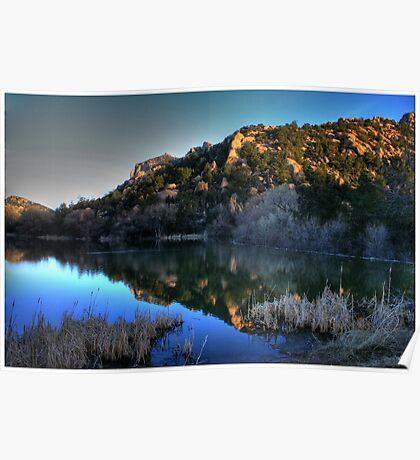 Dawn on Prescott Lake Poster