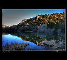 Dawn on Prescott Lake Fine Art Poster by Wayne King