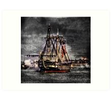 World's oldest commissioned warship afloat - USS CONSTITUTION Art Print