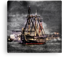 World's oldest commissioned warship afloat - USS CONSTITUTION Metal Print