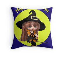 A sweet and Simple Halloween Card Throw Pillow