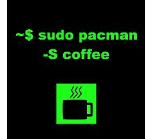 Linux sudo pacman -S coffee Photographic Print