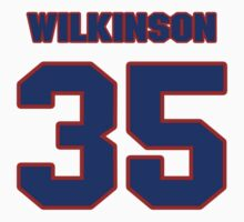 National Hockey player Derek Wilkinson jersey 35 by imsport