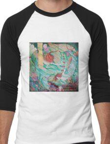 Mermaids in Atlantis from the original fantasy painting  Men's Baseball ¾ T-Shirt