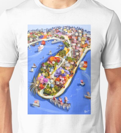 Blue water jetty Unisex T-Shirt