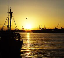 Sunset on the Docks by rufela