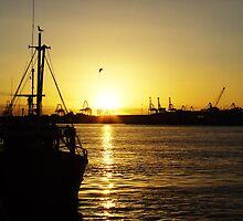 Sunset on the Docks by rufela