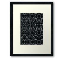Tron Matrix Geometric Framed Print