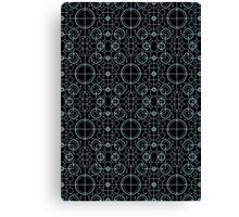 Tron Matrix Geometric Canvas Print