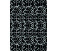 Tron Matrix Geometric Photographic Print