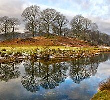 River Brathay Reflections by Gary Kenyon