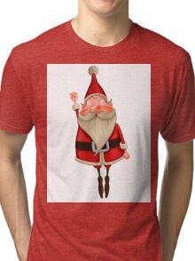 Santa Claus flies Tri-blend T-Shirt