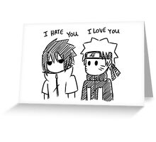 Love and Hate Greeting Card