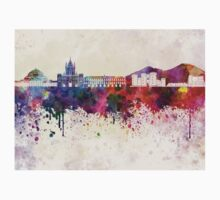 Naples skyline in watercolor background Kids Clothes