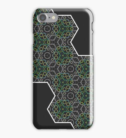 Hexagon Chameleon Geometric iPhone Case/Skin