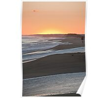Sunset And Gentle Surf Poster