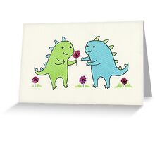 Dino Love Greeting Card