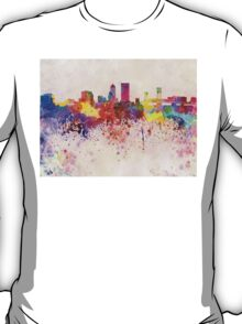 Jacksonville skyline in watercolor background T-Shirt