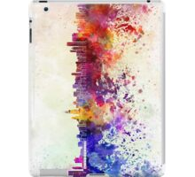 Chicago skyline in watercolor background iPad Case/Skin