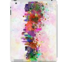 Kansas City skyline in watercolor background iPad Case/Skin