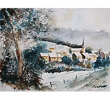 watercolor vencimont village belgium Photographic Print