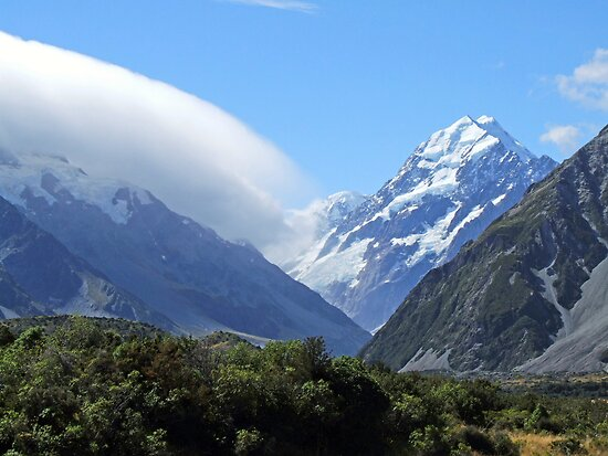 Mountains New Zealand by Pauline Tims