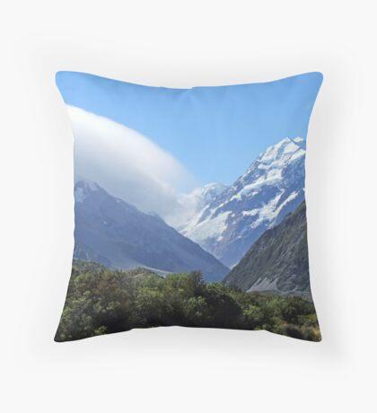 Mountains New Zealand Throw Pillow