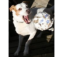 Look at me how I catch the ball! Photographic Print